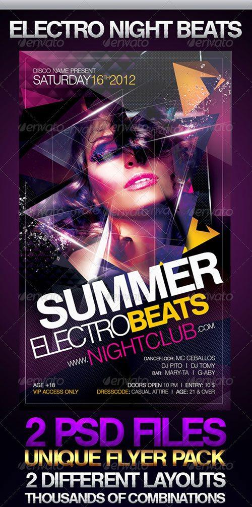 electro house music tech house party club flyer poster template free club party psd flyer templates - free premium psd flyer templates to download