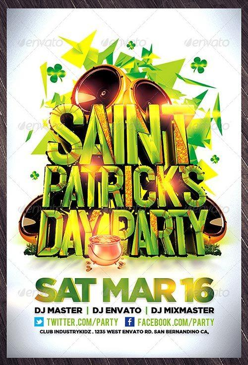 best st. patricks day flyer templates free club party psd flyer templates - free premium psd flyer templates to download