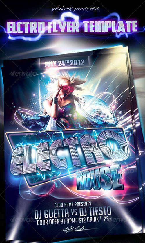 Top 10 Best Electro House Club PSD Flyer Templates