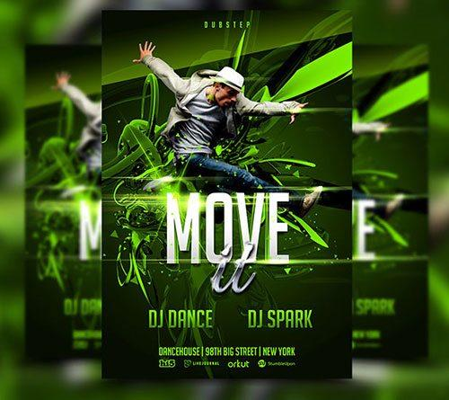 Urban dance party club flyer poster template free club party psd flyer templates - free premium psd flyer templates to download