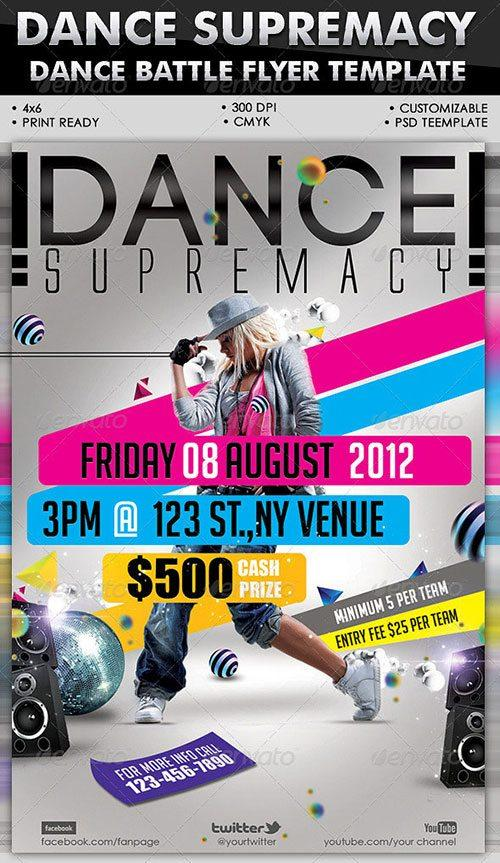 Link to download: Dance Supremacy/Dance Battle Flyer Template