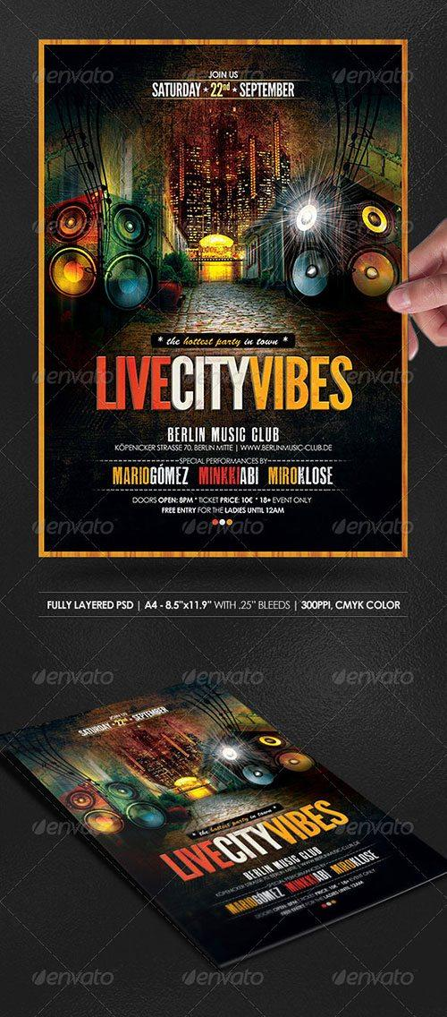 Urban streets party club flyer poster template free club party psd flyer templates - free premium psd flyer templates to download