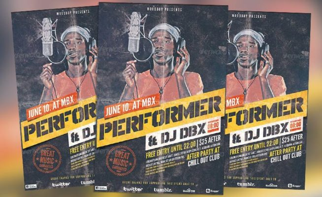 Featured Flyer: Alternative Grunge Hip Hop Flyer Template