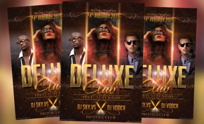 Featured Flyer: Deluxe Club Flyer PSD Template