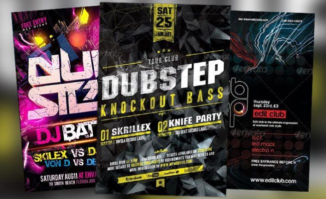 Top 10 Best Dub Step Club PSD Flyer Templates