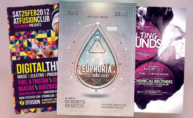 Top 10 Best Electro Minimal Club PSD Flyer Templates
