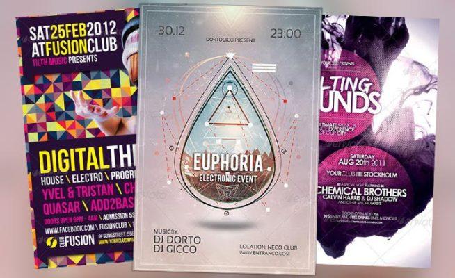 Top 10 Best Electro Minimal Club PSD Flyer Templates