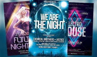 Top 10 Best Electro Trance PSD Flyer Templates