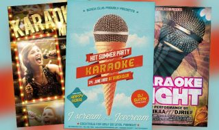 Top 10 Best Karaoke PSD Flyer Templates
