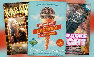 Top 10 Best Karaoke PSD Flyer Templates