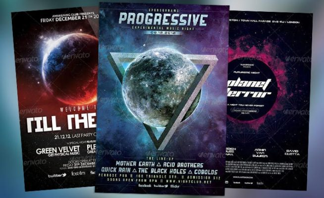 Top 10 Best Space Club PSD Flyer Templates