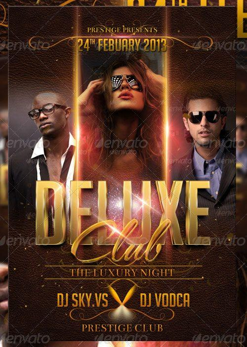featured top deluxe club party night flyer psd template to download flyersonar