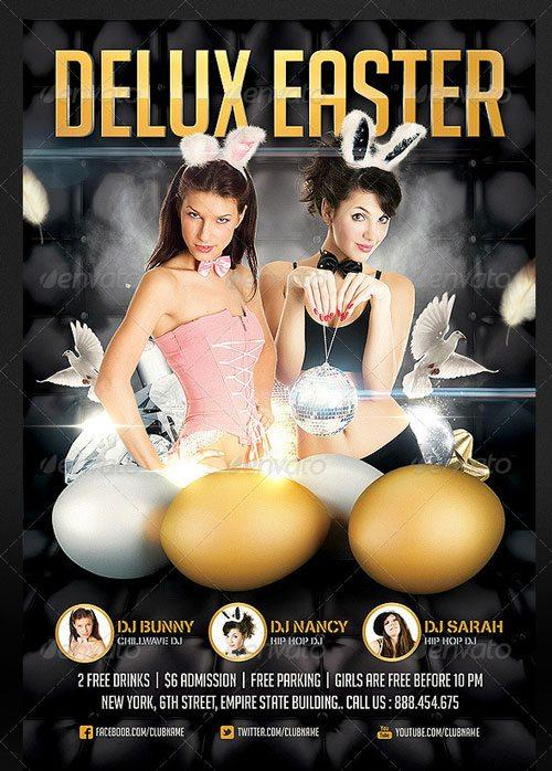 best easter party club psd flyer templates for easter 2013 to download