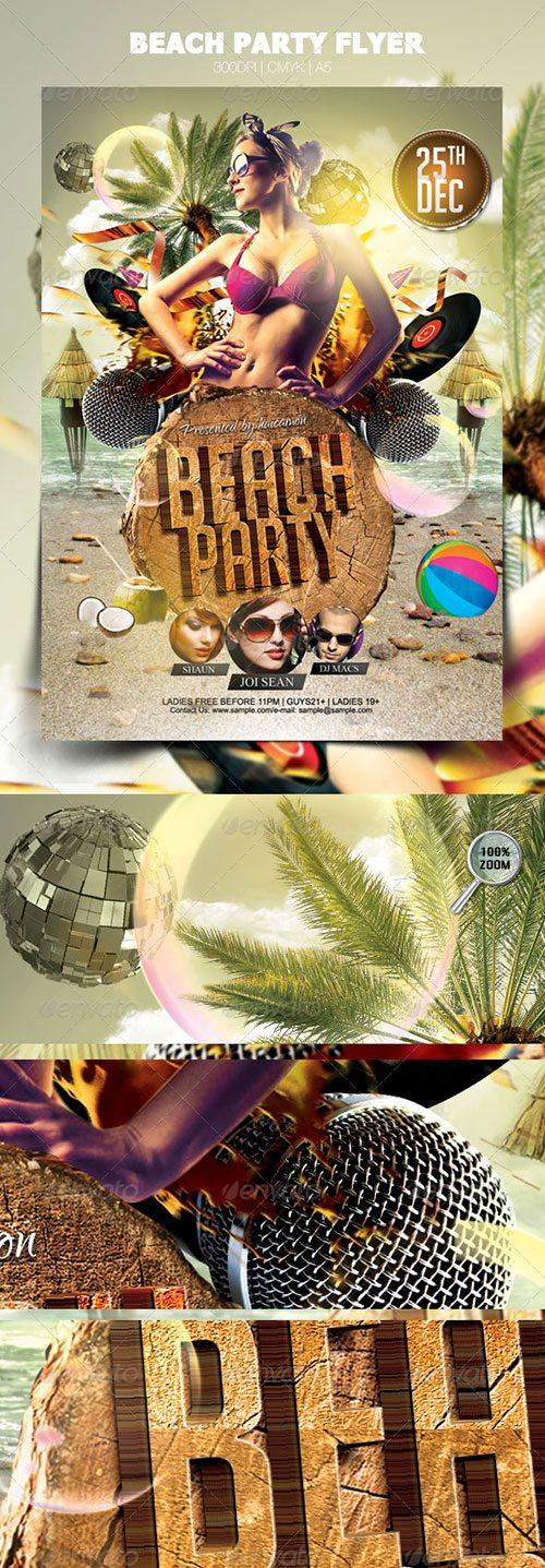 best spring break summer flyer templates free club party psd flyer templates - free premium psd flyer templates to download