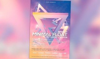 Minimal Float Minimal Electro Free PSD Flyer Template