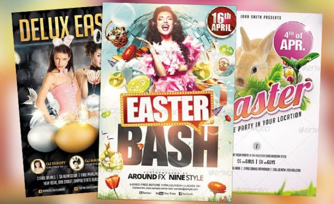 Top 15 Best Easter PSD Flyer Templates for Easter