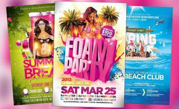 Top 20 Best Spring Break PSD Flyer Templates