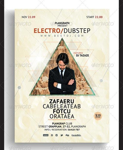 Best Electro Club PSD Flyer Templates to download party club flyer templates