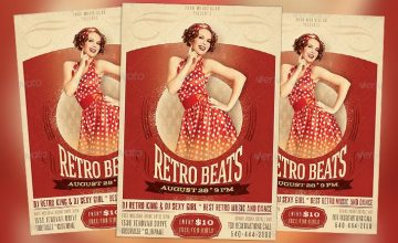 Featured Flyer: Fancy Retro Beats Flyer PSD Template