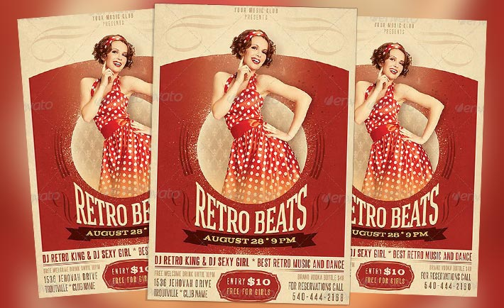 Featured Flyer: Fancy Retro Beats Flyer PSD Template