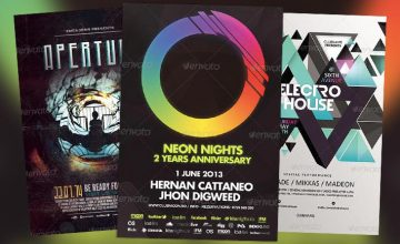 New and Fresh Electro Club Flyer Templates Collection