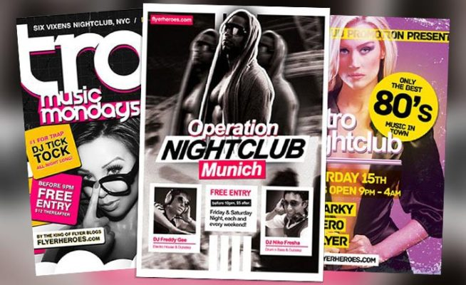 Top 20 Best Club and Party Free PSD Flyer Templates