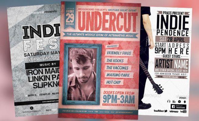 Top 20 New Indie Rock Flyer Templates