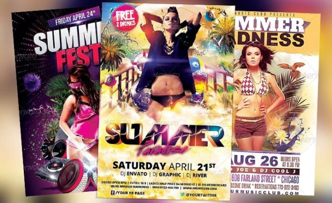 Top 25 Summer Warm Up PSD Flyer Templates