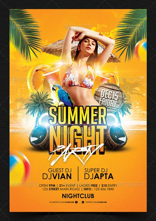 Summer event flyers ibovnathandedecker summer event flyer template image collections template design ideas maxwellsz
