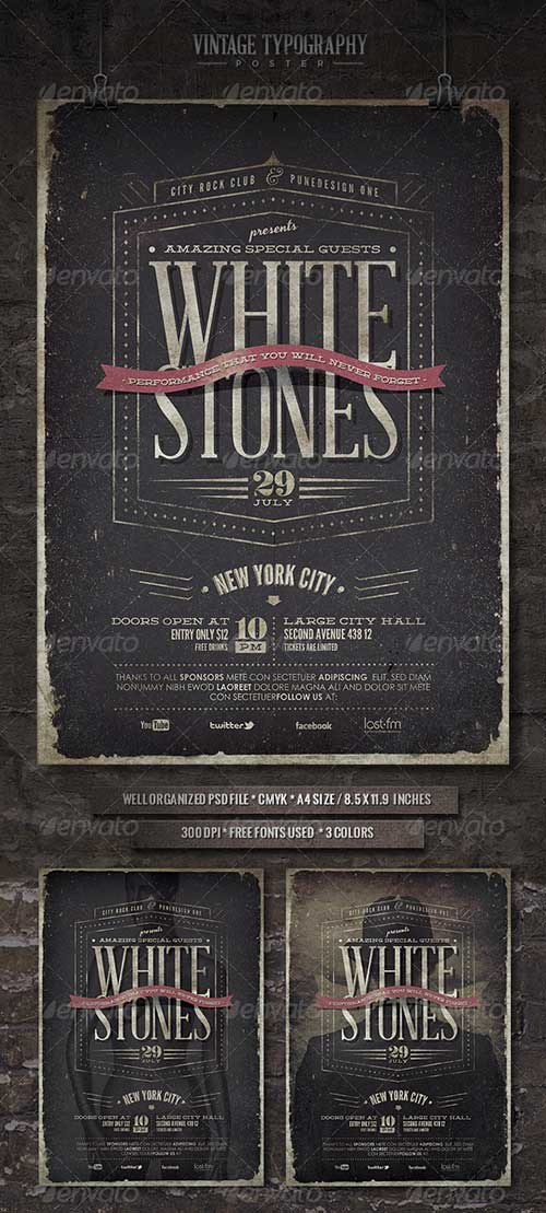 alternative indie rock club and party rock indie rock flyer templates psd download