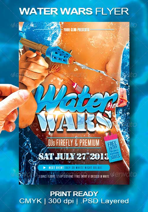 Top 25 Top New Summer PSD Flyer Templates club party flyer design to download