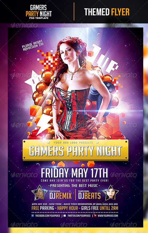 Download Great Top 40 Party and Club PSD Flyer Templates download free flyer templates for photoshop