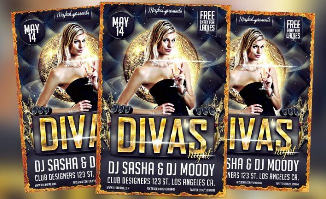 Free Flyer: Diva Night Flyer PSD Template - Download for Photoshop