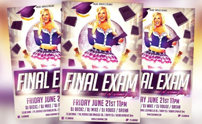 Free Flyer: Final Exam Flyer PSD Template
