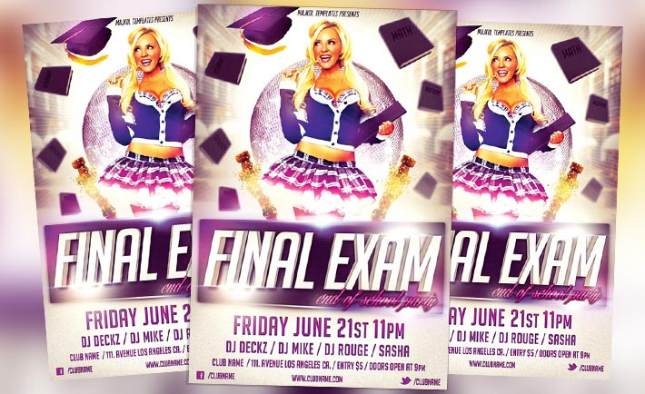 Free Final Exam Flyer Psd Template