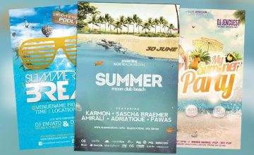 Top 25 Best New Summer PSD Flyer Templates
