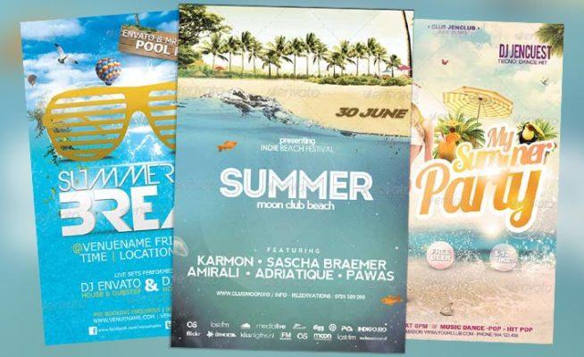 Top 25 Best New Summer PSD Flyer Templates