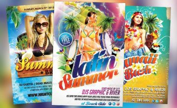 Top 35 Hot Summer and Beach PSD Flyer Templates