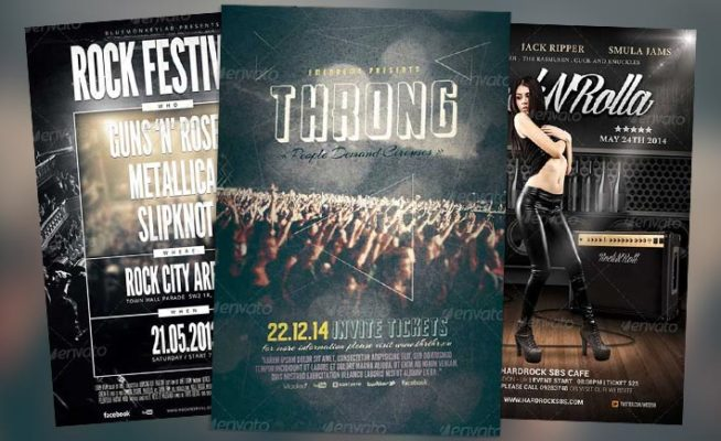Top 50 Amazing Alternative Indie Rock Flyer Templates