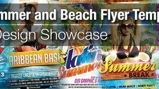 hot summer beach party club spring party club print flyer templates to download