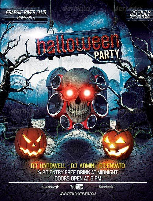 Download Great Top 30 Halloween Party and Club PSD Flyer Templates download free flyer templates for photoshop
