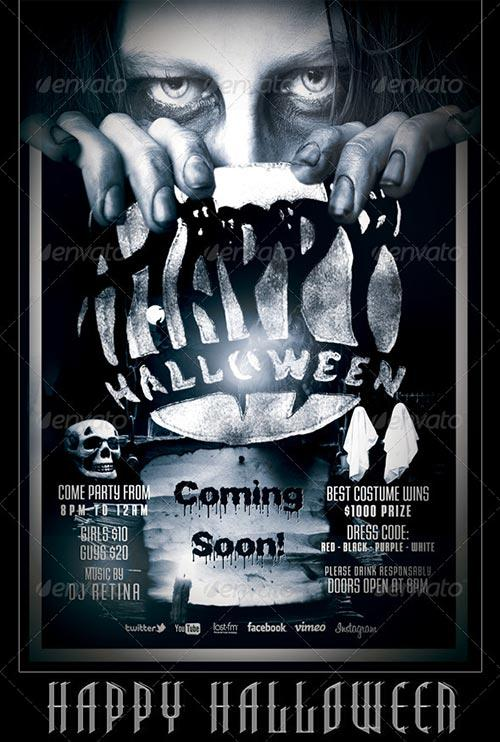 top 30 great halloween party flyer templates download flyer templates. Black Bedroom Furniture Sets. Home Design Ideas