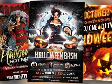 Top 30 Great Halloween Party Flyer Templates