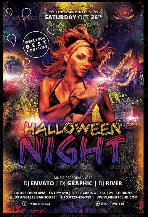 Spooky | Halloween Night Flyer Template