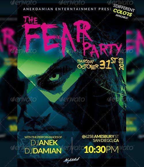 Fear Party Flyer Template