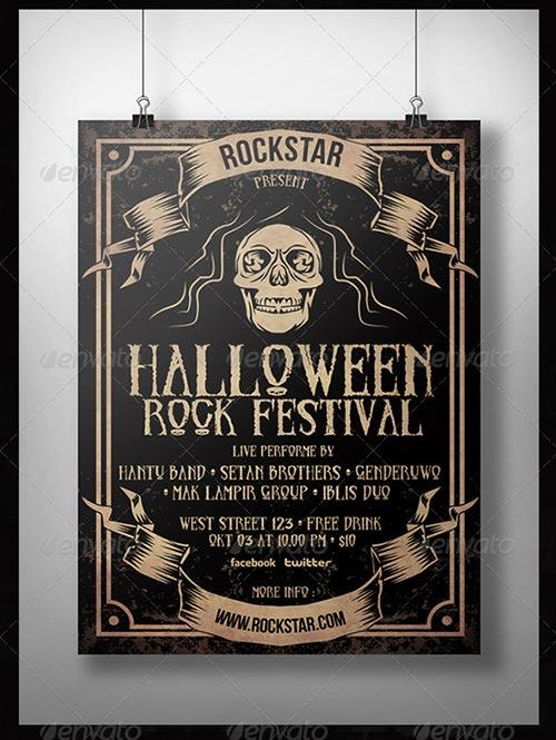 Halloween Rock Festival Flyer Template