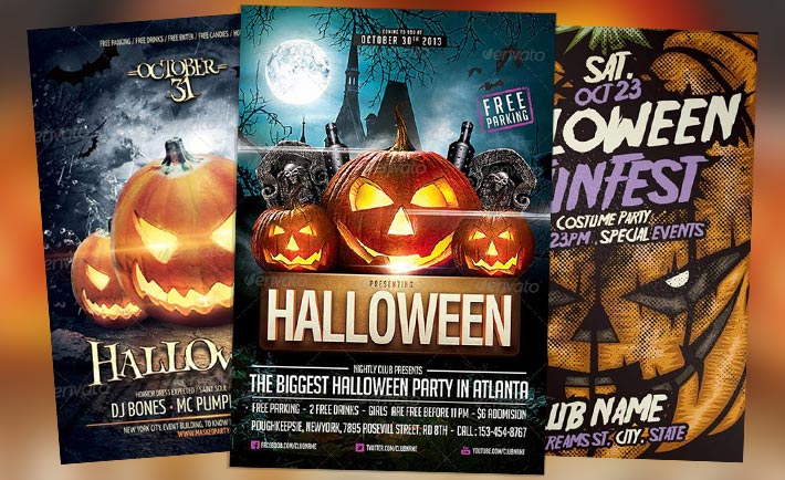 Best 25 Free and Premium Halloween Party Flyer Templates