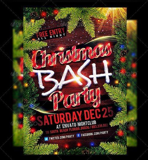 Christmas Party Flyer Templates