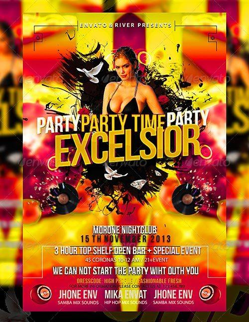 Party Day Flyer Template