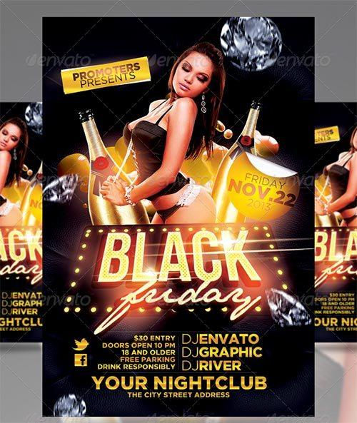 Black Friday Fashion Night-out Party Flyer